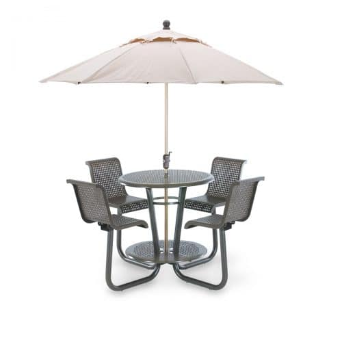 wabash valley picnic table with four seats and umbrella