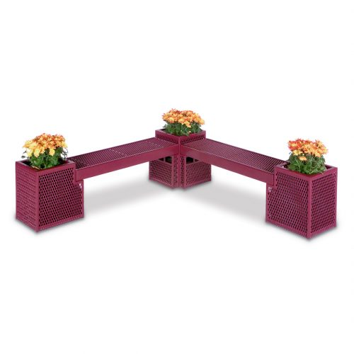 bench with planter